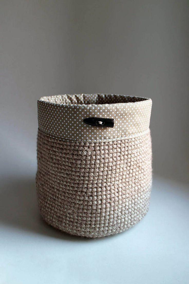 Cappuccino strakatá | obšitý gombík – MAXI