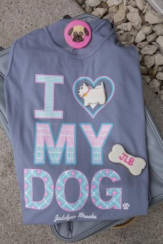 I Love My Dog - Tank Color: Blue Jean 100% Pre-shrunk ringspun Cotton *Tanks run about a half size larger