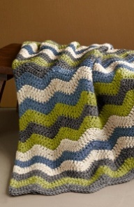 Make this Manly Ripple Afghan for that special man in your life. Use Lion Brand Yarn to complete this easy crochet afghan pattern. It would make a perfect Fathers Day gift!