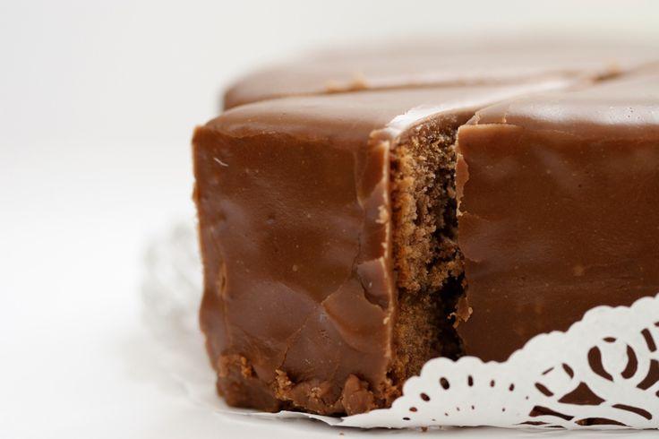 Chocolate-Glazed Chocolate Cake!