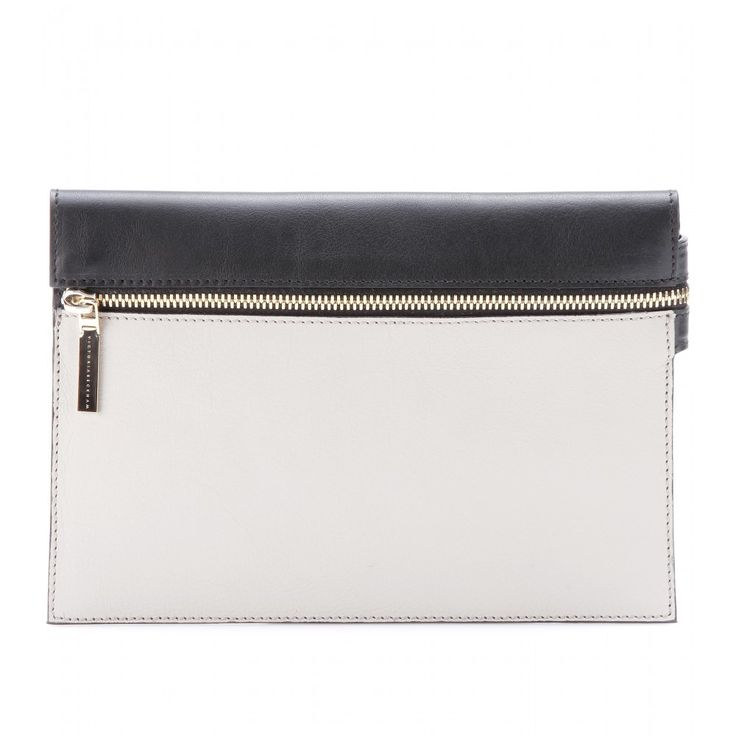 Victoria Beckham small zip leather clutch