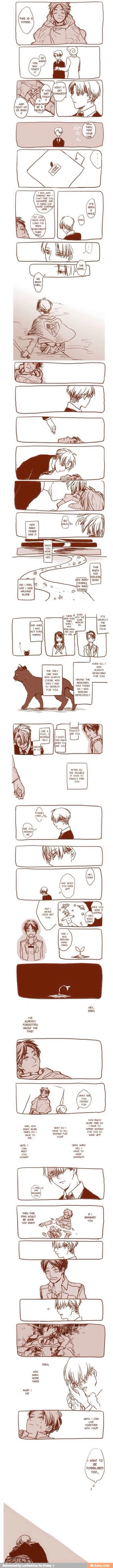 Anime/manga: SNK Characters: Levi and Eren, SAD. Levi as a girl and neko... I PIN TO MUCH DEPPRESSING STUFF ON THIS BOARD. Oh yeah, read like manga.