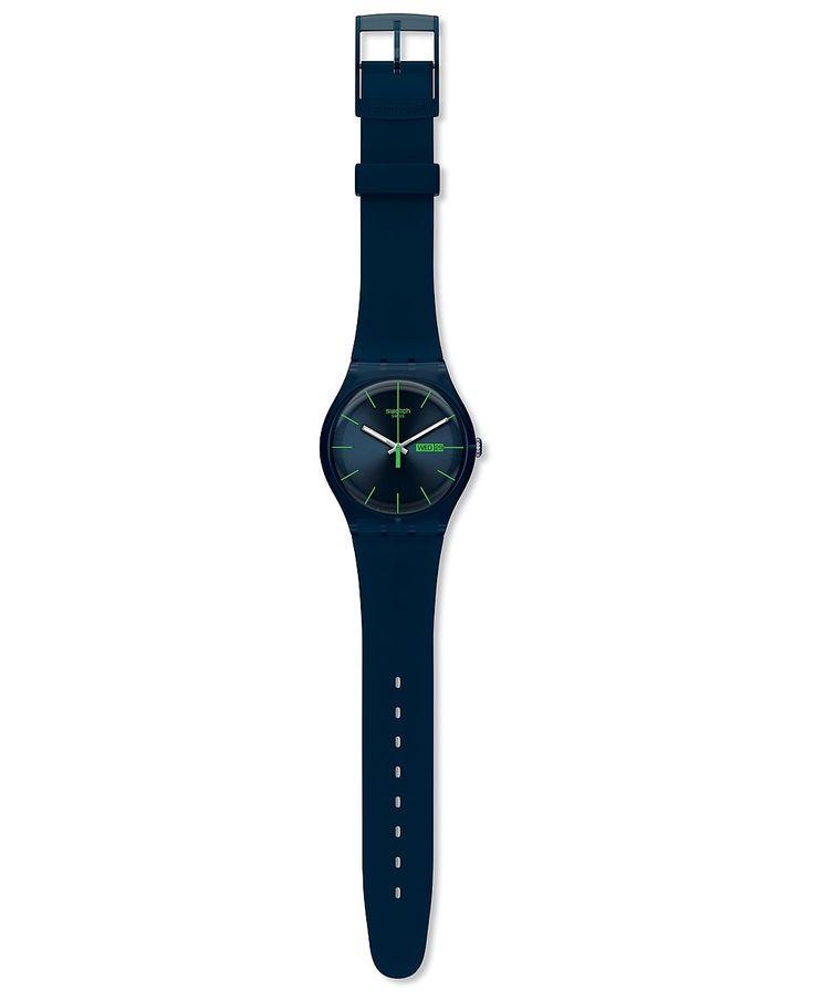 Swatch СИНИЙ REBEL NEW GENT SUON700 Часы | uhr24