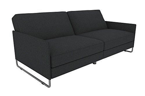For those who love the modern look of bold lines, solid colors and metal accents, the pembroke futon from DHP is for you. Unlike traditional futons, this convertible couch is modelled after a full-sized sofa, with upholstered armrests, individual seat cushions and thick padding beneath a... more details available at https://furniture.bestselleroutlets.com/living-room-furniture/futons/futon-sets/product-review-for-dhp-pembroke-convertible-futon-with-modern-design-grey-linen/