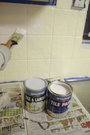 Our Budget Kitchen Makeover: How to Paint Splashback Tiles   House Nerd