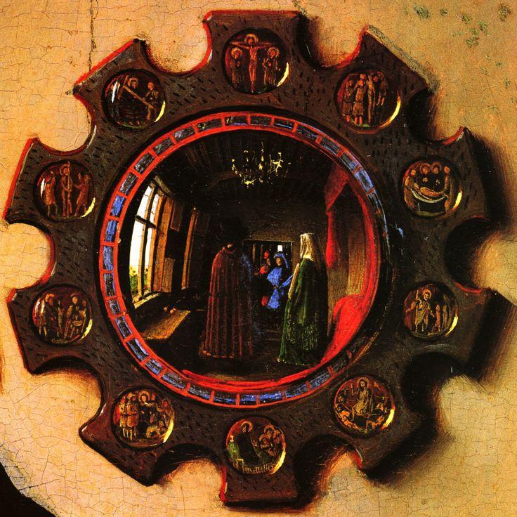 mirror detail the arnolfini portrait jan van eyck c