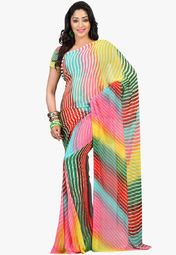 Admyrin Multi Printed Saree Online Shopping Store