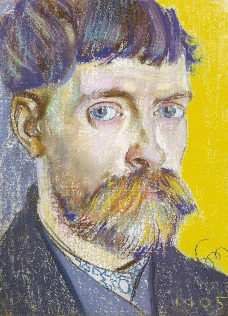 Stanisław Wyspiańsk (Polish, 1869-1907), Self-portrait, 1905. Pastel. Private collection.
