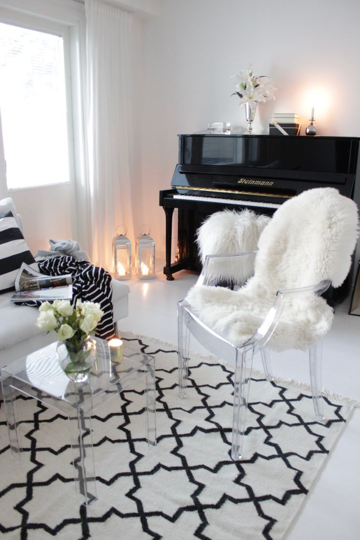 Black & white living room | Home Vanilla