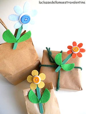 clothes peg flowers