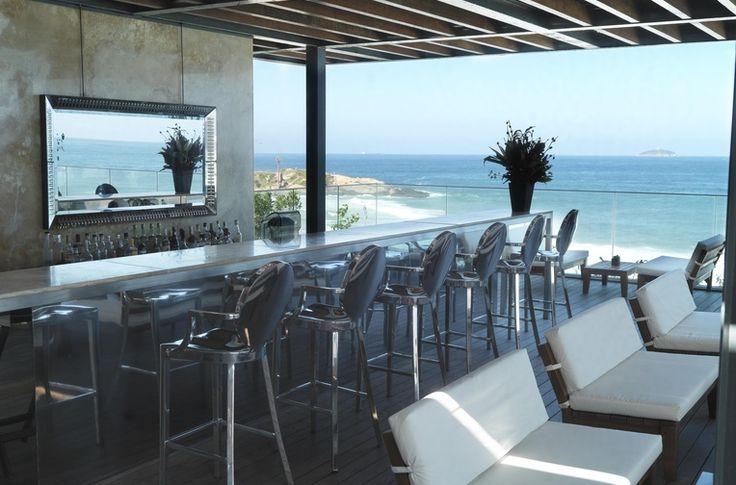 Rooftop pool bar. Hotel Fasano Rio De Janeiro. Elegant sophistication in Ipanema. By Hotelied.