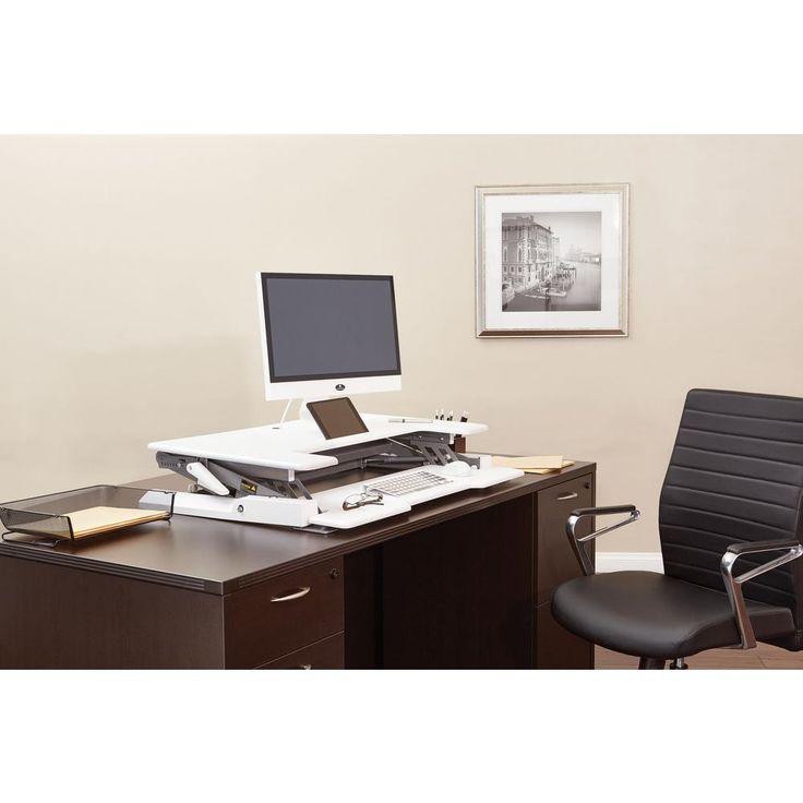 Multi-Position Desk Riser, White