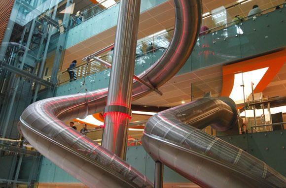 Four-Story Indoor Slide, Changi International Airport, Singapore