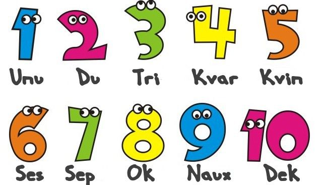 Counting to 10 in Esperanto