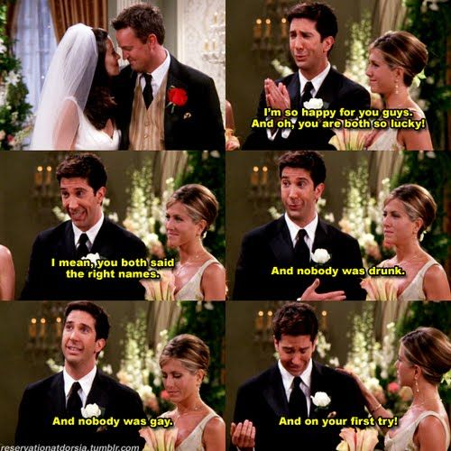Ross explains why Chandler and Monica's wedding was perfect