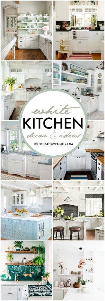 White kitchen decor ideas white kitchen decor kitchen for Kitchen design 10 5 full patch