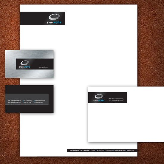 A Black and Metal finish Stationery Set Design. #stationery #design  $39.00