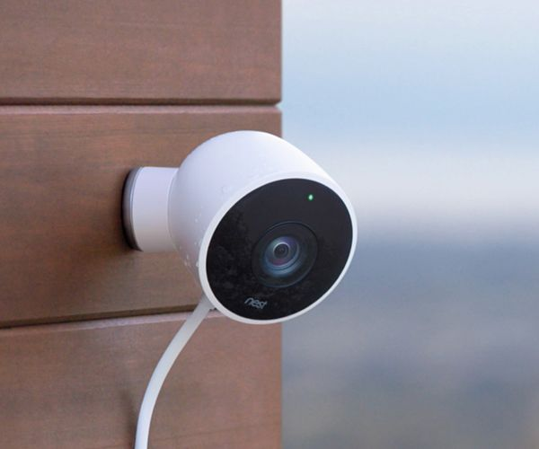 The weatherproof version of Nest's security camera. Nest Cam Outdoor plugs into a socket, and in return it gives you 130º 1080p video at all times. It also has a microphone and speaker so you can interact (or scare away) with the folks onscreen using Nest's app.