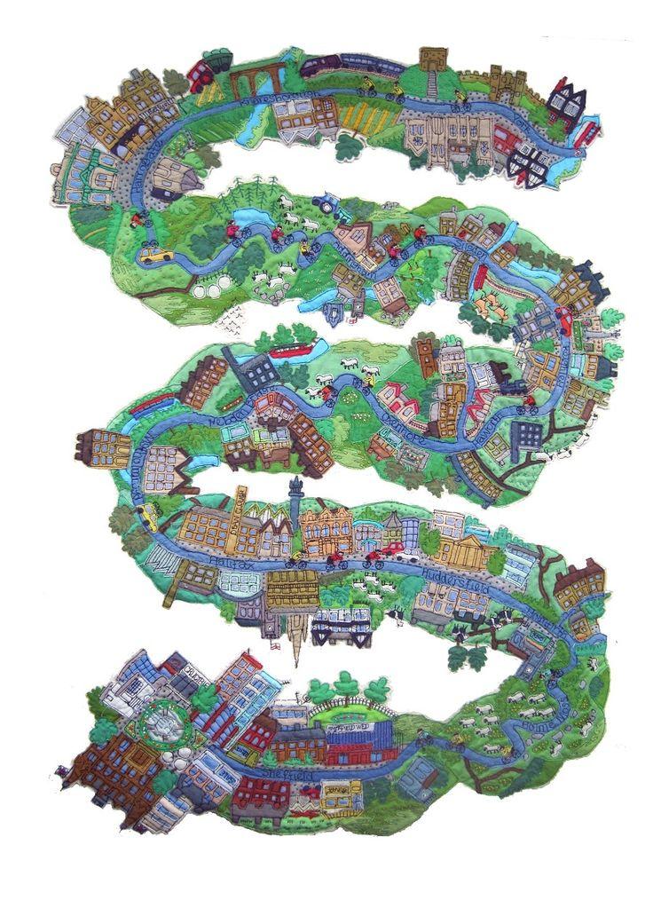 281 best things i love vive le tour images on pinterest janet browne textiles route map of tour de france 2014 day 2 yorkshire gumiabroncs Choice Image