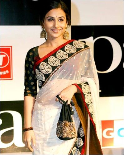 Classic Beauty.. See Vidya Balan looks so much better here...what happened 2 her at Cannes?!
