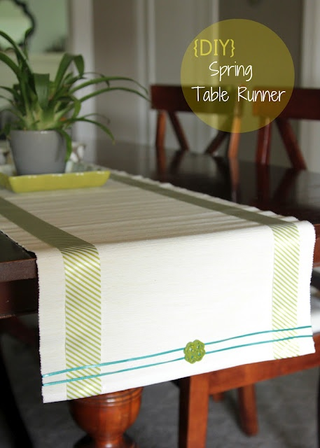 Easy Diy Spring Table Runner Misc Sewing Projects