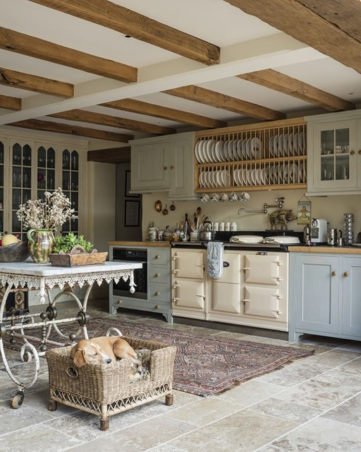 Country House Decor. Farmhouse-style Kitchen with cream AGA. See the whole house… – 50 Derryraine Road
