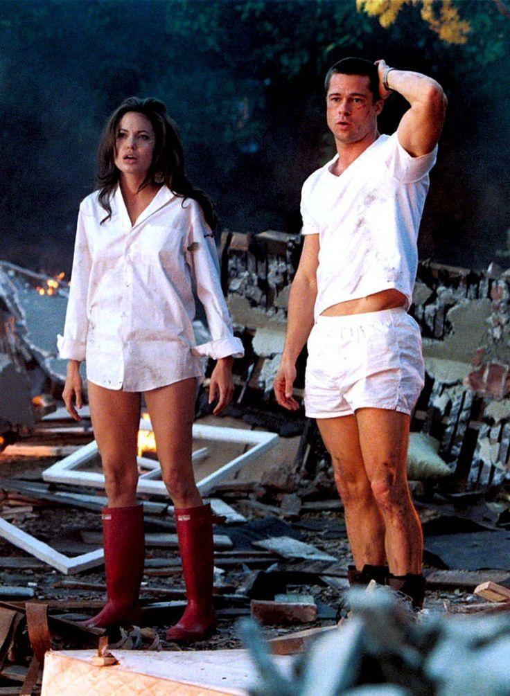 "Brad Pitt y Angelina Jolie en ""Sr. y Sra. Smith"" (Mr. and Mrs. Smith), 2005"