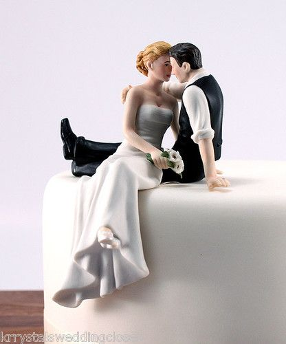 adorable wedding cake topper just put cowboy boots and jeans on the groom and a cowboy hat in his hand...