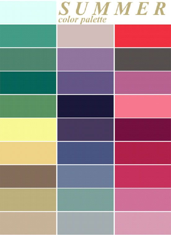 color me beautiful summer palette - love the purples, deep pinks and creams