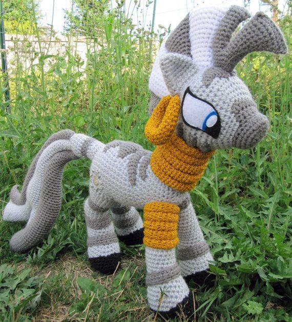 Patrón de Zecora My Little Pony por NerdyKnitterDesigns en Etsy