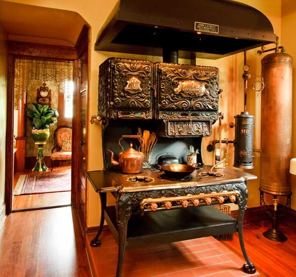 The 1899 'Real Economy' Stove Is The Centerpiece. The New