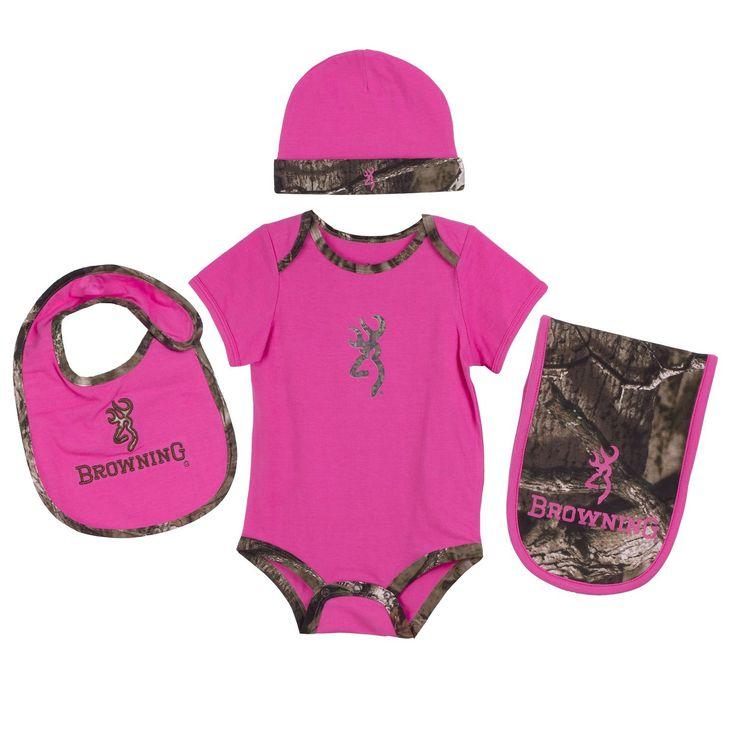 Browning Baby Girls Camo Layette Set Mossy Oak Infinity Ultra Pink