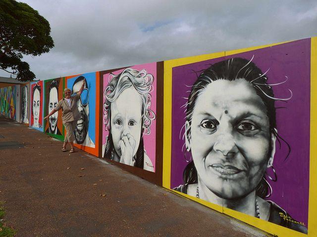 Ponsonby, Auckland, New Zealand Murals by NZ graffiti artist - Otis Frizzell.