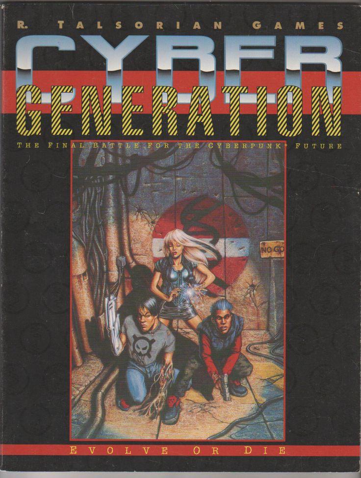 1993 Cyberpunk 2020 CyberGeneration Roleplaying Supplement. VF-. R. Taslorian Games. #cybergeneration #cyberpunk2020 #rpgs
