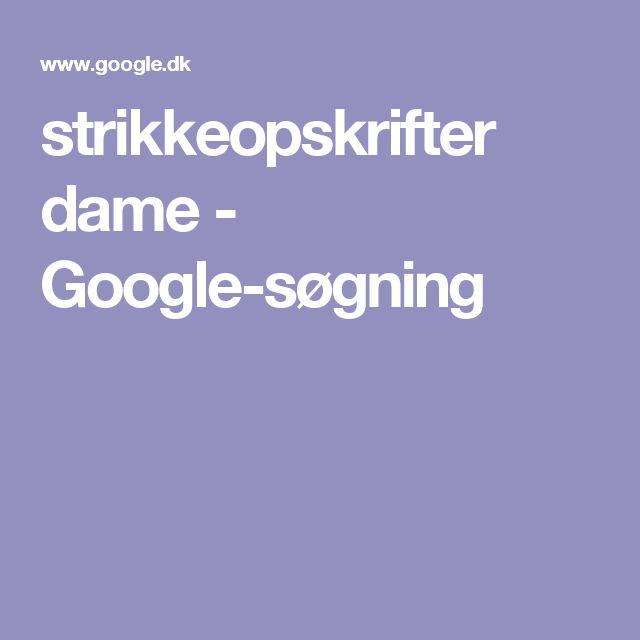 strikkeopskrifter dame - Google-søgning