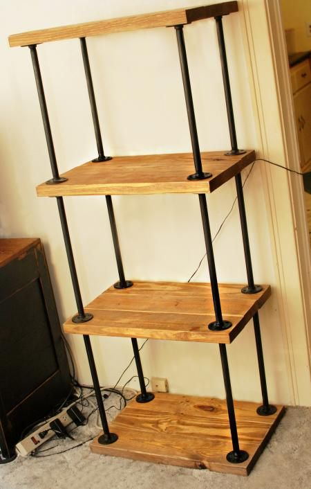pipe/wood bookcase | Do It Yourself Home Projects from Ana White