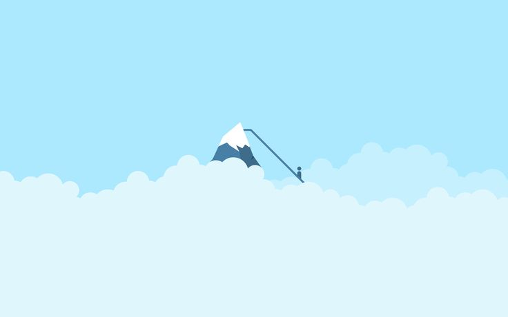 everest minimalist wallpaper blue