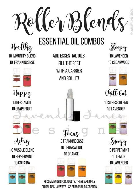 Essential Oil Roller Blend Guide Young Living Essential Oils