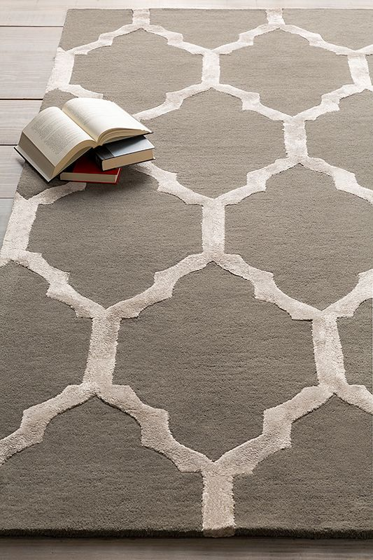 Exquisite Charcoal And Light Gray Hand Tufted Rug From Surya Skl 2017