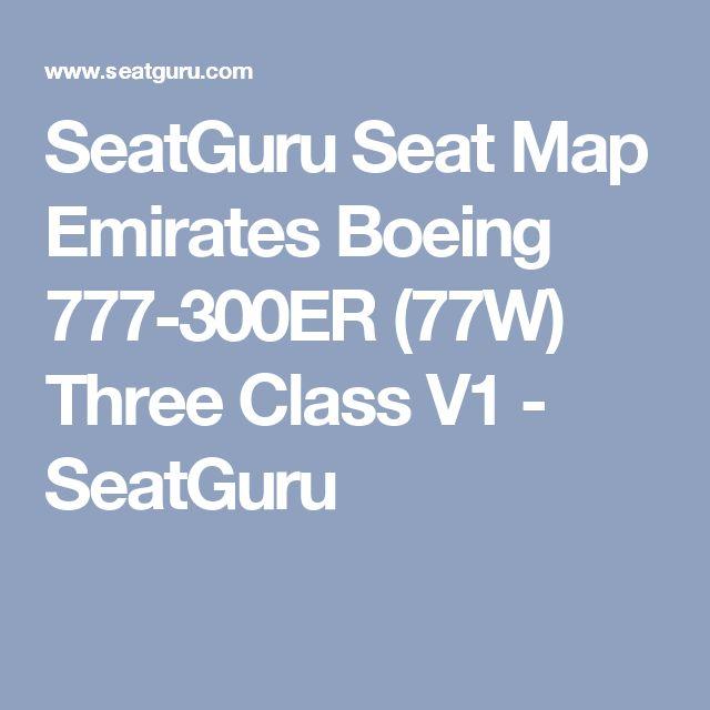 SeatGuru Seat Map Emirates Boeing 777-300ER (77W) Three Class V1 - SeatGuru