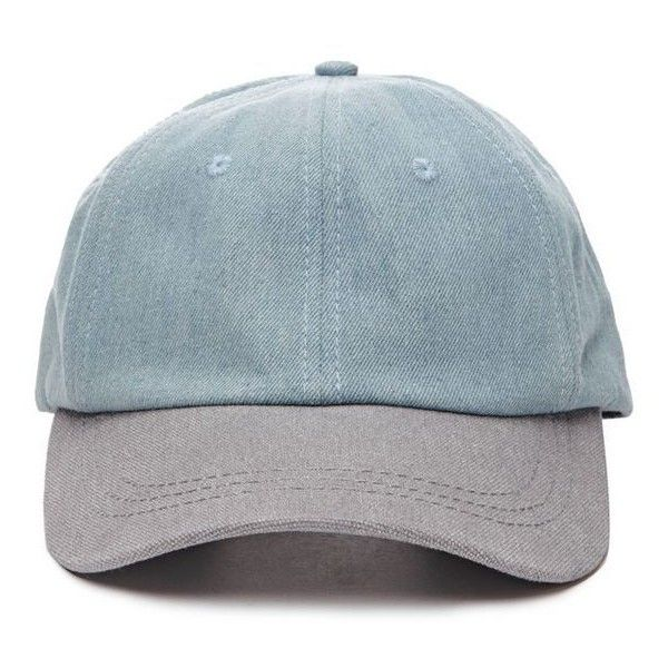 Colorblocked Denim Baseball Cap 21MEN 2000077379 Forever 21 EU ❤ liked on Polyvore featuring accessories, hats, ball caps, denim baseball cap, denim baseball hat, block hats and denim hat