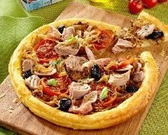 Tarte fine au thon, endives, tomates et jambon de parme