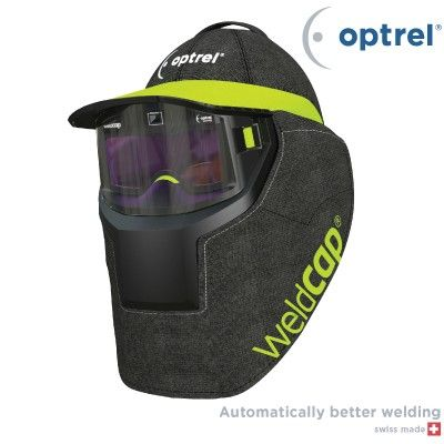 Maska za zavarivanje Optrel Weldcap | Seibl TradeLagana i kompaktna maska-kapa za zavarivanje sa velikim vidnim poljem, automatskim zatamnjenjem, brusačkim modom i LED lampicom za upozorenje za nizak nivo baterije. Srce ovog inovativnog proizvoda je optička jedinica koju karakteriše dobro definisan oblik. To joj omogućava da bude postavljena bliže očima u poređenju sa tradicionalnim maskama za zavarivanje. Na taj način, vidno polje se povećava 2,7 puta.