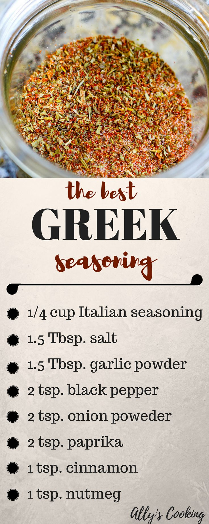 The best homemade greek seasoning mix ever!