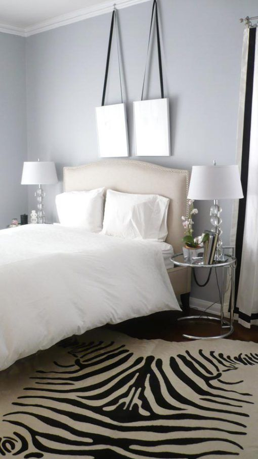 Even the addition of just one black and white piece, such as a Zebra print rug, can make a bold statement and serve as the focal point of a room.
