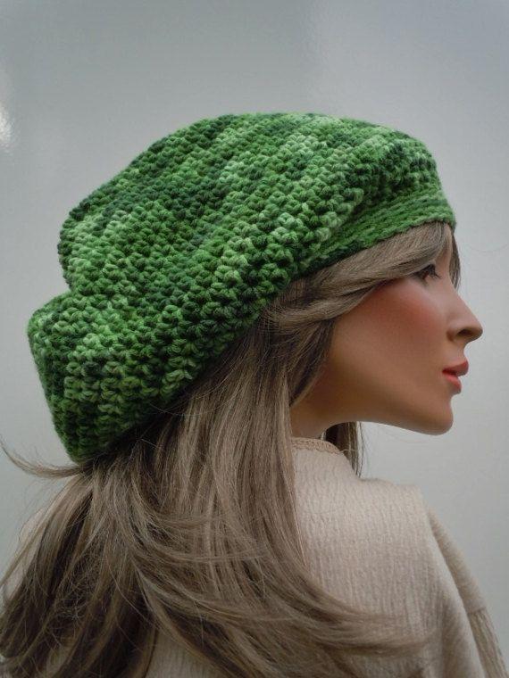 Dreadlock Tam Rasta Tam Cap Hippie Hat Bag Hat Green  b482ceb433a