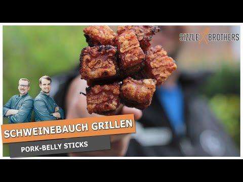 Schweinebauch grillen - Pork Belly Sticks - Die Kruste fetzt! - YouTube