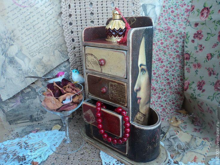 Купить Камодик Забытое письмо - камодик, камодик для украшений, мини-камодик, шкатулка для украшений