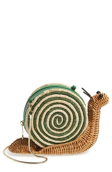 kate spade new york 'spring forward' wicker snail crossbody bag available at #Nordstrom