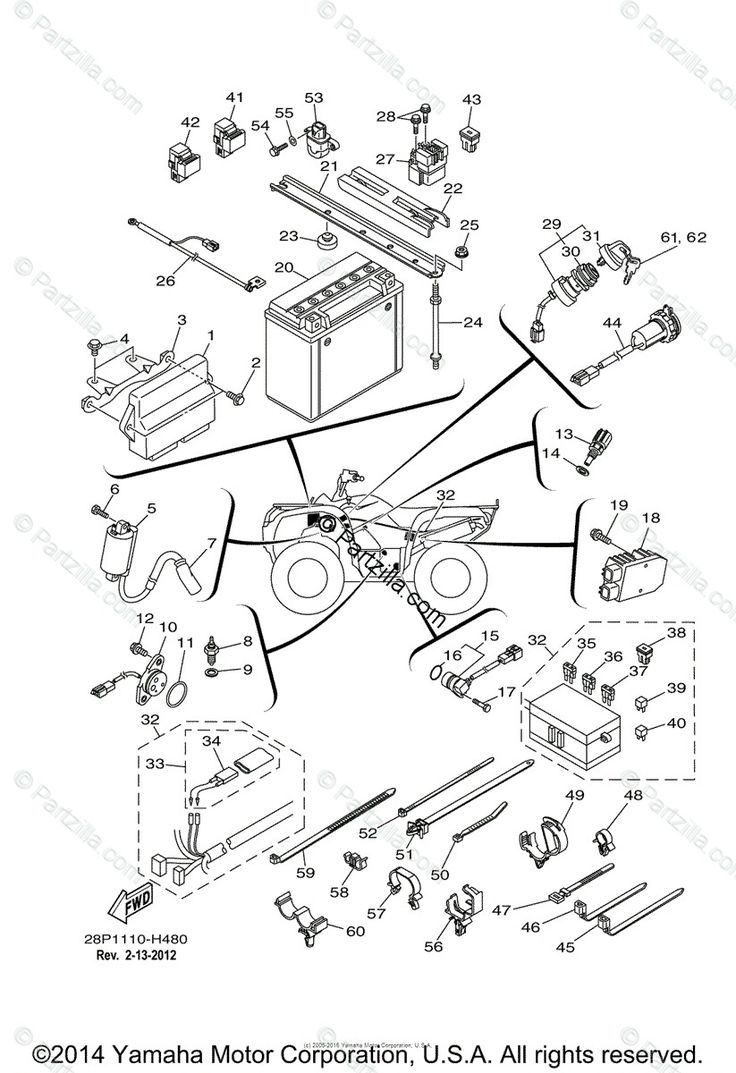 Wiring Diagram 09 Yamahah Kodiak In 2020 Kodiak Diagram Yamaha Atv